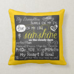 "My Daughter Love and Inspiration Pillow<br><div class=""desc"">My Daughter Love and Inspiration pillow, a beautiful white text on chalkboard look pillow with hearts and flowers. Text reads &quot;My Daughter... Apple of My Eye, Love of My Life, Sunshine on the cloudy days, Perfection, Maker of Dreams, Hope for Tomorrow, Pride... Joy... Happiness, My Heart &amp; Soul, The best...</div>"