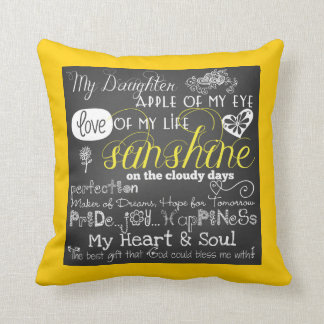 My Daughter Love and Inspiration Pillow