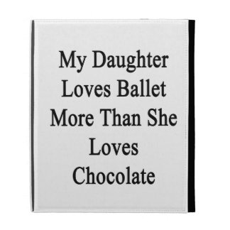 My Daughter Loves Ballet More Than She Loves Choco iPad Folio Cases