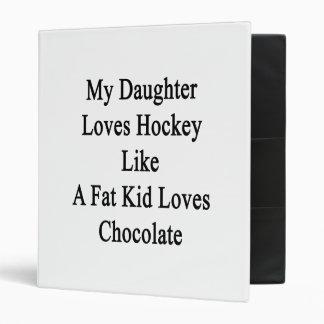 My Daughter Loves Hockey Like A Fat Kid Loves Choc Vinyl Binders