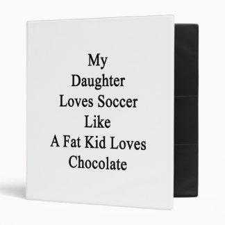 My Daughter Loves Soccer Like A Fat Kid Loves Choc 3 Ring Binder