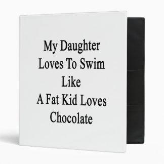 My Daughter Loves To Swim Like A Fat Kid Loves Cho Vinyl Binders