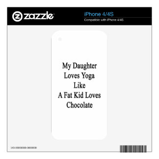 My Daughter Loves Yoga Like A Fat Kid Loves Chocol iPhone 4S Decal
