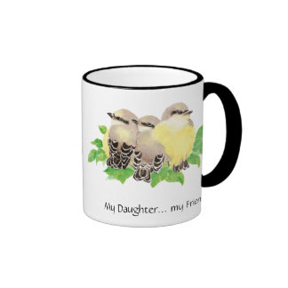 My Daughter... my Friend- cuddling Birds Ringer Mug