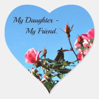 My Daughter - My Friend. Heart Sticker