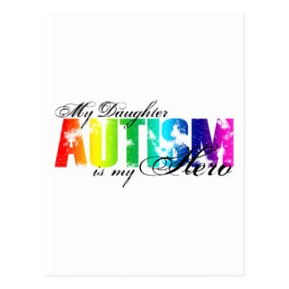 My Daughter My Hero - Autism Postcard