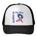 My Daughter My Hero Patriotic Grunge Ribbon Trucker Hat