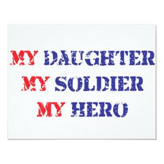 My daughter, my soldier, my hero custom invite