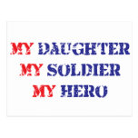 My daughter, my soldier, my hero postcard
