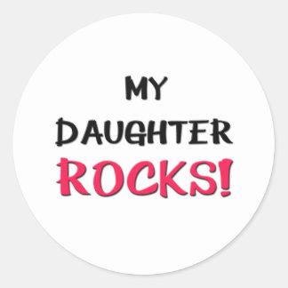 My Daughter Rocks Classic Round Sticker