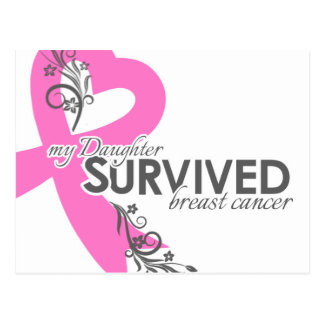 My Daughter Survived Breast Cancer Postcard