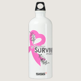 My Daughter Survived Breast Cancer Water Bottle