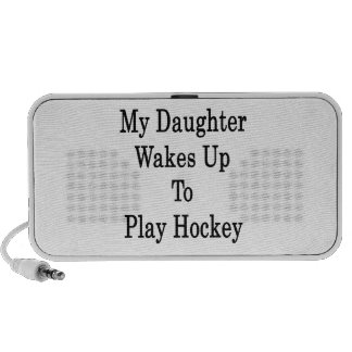 My Daughter Wakes Up To Play Hockey Notebook Speaker