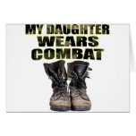 My Daughter Wears Combat Boots Greeting Cards