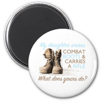 My Daughter Wears Combat Boots Magnet