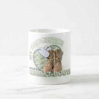 My Daughter wears Combat Boots Classic White Coffee Mug