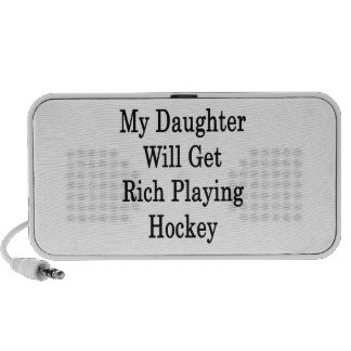 My Daughter Will Get Rich Playing Hockey Notebook Speaker