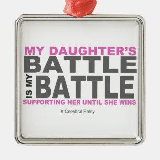 My Daughter's Battle Metal Ornament
