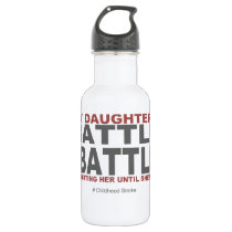 My Daughter's Battle Stainless Steel Water Bottle