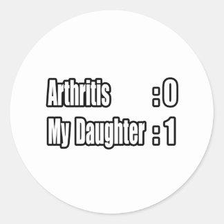 My Daughter's Beating Arthritis Round Stickers