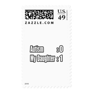 My Daughter's Beating Autism Postage Stamp
