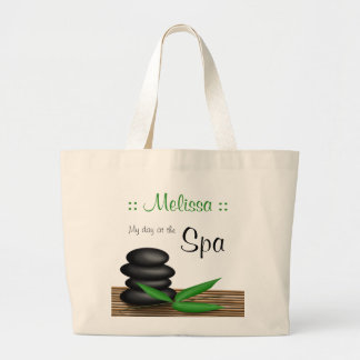 """""""My day at the Spa"""" personalized Jumbo Tote Bag"""