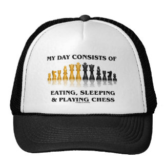 My Day Consists Of Eating, Sleeping Playing Chess Trucker Hat