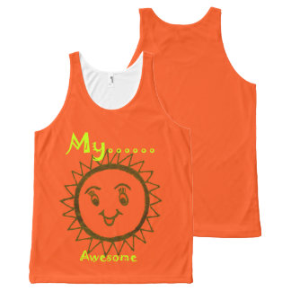 My Day was awesome All-Over-Print Tank Top