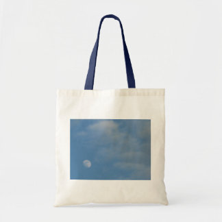 My Daytime Moon Photo Image Budget Tote Bag