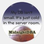 """""""My DB isn't small"""" sticker"""