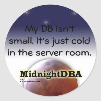 """My DB isn't small"" sticker"