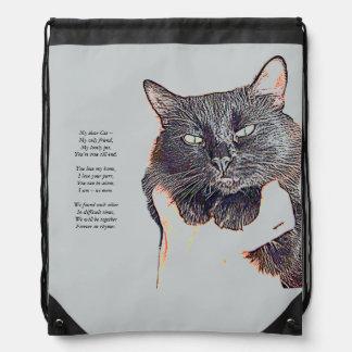 My Dear Cat Drawstring Backpack