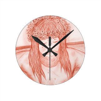 My Dear Lord IV Round Clock