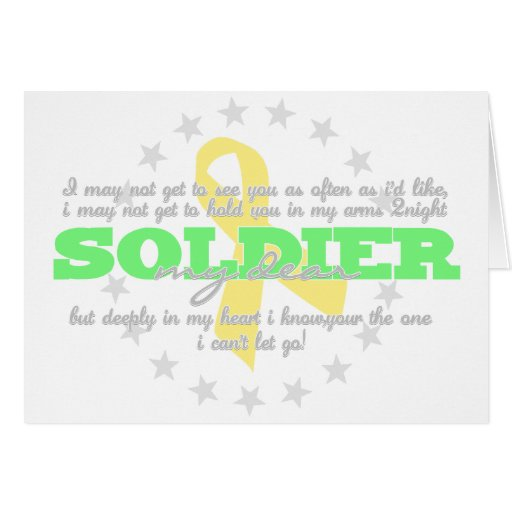 to my dear soldier He changed his mind when he saw the guy in uniform because he was a soldier, and soldiers remind me of my dad, myles explains and so, with his dad in mind, myles wrapped the $20 in a note that read, dear soldier -- my dad was a soldier.