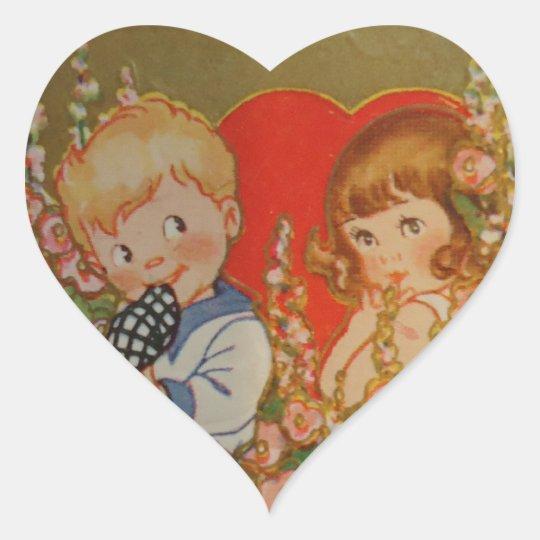 My Dear Valentine Heart Sticker
