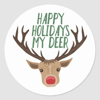 My Deer Classic Round Sticker
