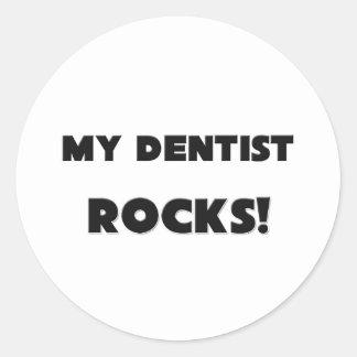 MY Dentist ROCKS! Classic Round Sticker