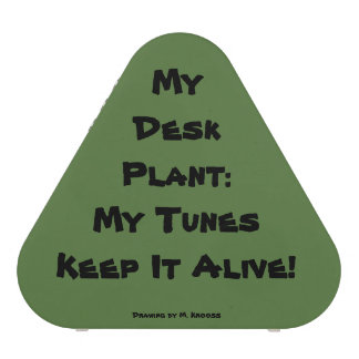 My Desk Plant: My Tunes keep it Alive! Bluetooth Speaker