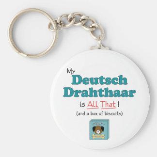 My Deutsch Drahthaar is All That! Basic Round Button Keychain