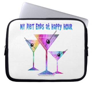 My DIET ENDS at Happy Hour! Computer Sleeve