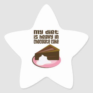 My Diet Is Heavy In Chocolate Star Stickers