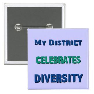 My District Celebrates Diversity Button