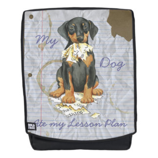 My Doberman Ate my Lesson Plan Backpack
