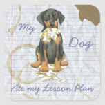 My Doberman Ate My Lesson Plan Stickers