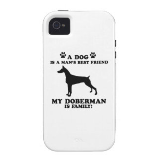 My doberman family, your dog just a best friend iPhone 4 covers