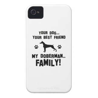 My doberman family, your dog just a best friend iPhone 4 Case-Mate case