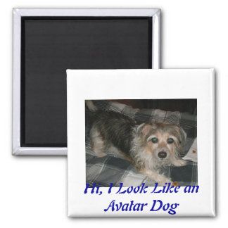 My Dog 2 Inch Square Magnet