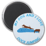 My Dog and I Love Dock Jumping Refrigerator Magnets