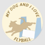 My Dog and I Love Flyball Sticker