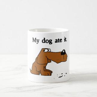 """My dog ate it"" mug"